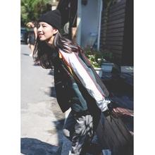 秋季美pu街头OLDouHOOL嘻哈风牙买加配色刺绣夹克外套潮