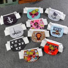 潮牌婴pu童纯棉 宝ou纱布垫背巾 4层6层2-3-4-7岁