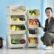 厨房放pu架子蔬菜置ou层装菜的收纳架菜篮子神器储物架塑料筐