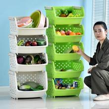 百露加pu多层蔬菜水ou落地储物收纳架菜篮子架用品
