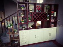 鞋柜和pu柜连体客厅ou物经济型简欧屏风玄关式挡双面餐靠墙边