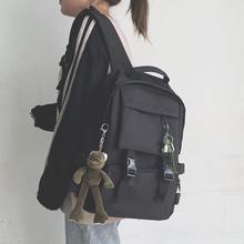 工装书pu女韩款高中an大容量15.6寸电脑背包男时尚潮流双肩包