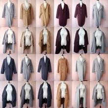 vinpvage反季fw工双面羊绒大衣女式中长式羊毛呢子外套韩国制