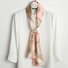 (小)春秋pw配衣服白衬kw长条女装饰围巾配衬衫丝带脖子配饰