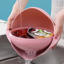 双层翻pw洗菜盆沥水l8筛淘米篮神器盘塑料家用客厅洗水果篮子