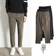 [pxbw]男装新款秋冬毛呢裤子男直