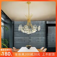 北欧灯q6后现代简约63室餐厅水晶创意个性网红客厅蒲公英吊灯
