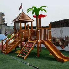 促销木q9(小)博士滑梯9f千幼儿园木制设施公园木滑梯