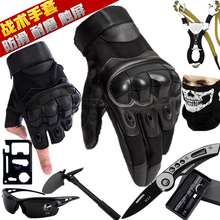 战术半qb手套男士冬cm种兵格斗拳击户外骑行机车摩托运动健身