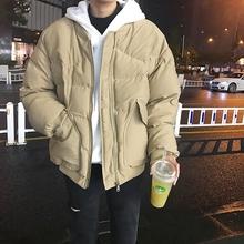 LESqcT林弯弯冬cq男生阿美咔叽加厚棒球服棉衣外套男女面包服