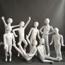 宝宝服qd模特道具全gw钢动态的体造型展示架童装衣架童模