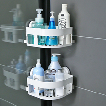 韩国吸qd浴室置物架ef置物架卫浴收纳架壁挂吸壁式厕所三角架