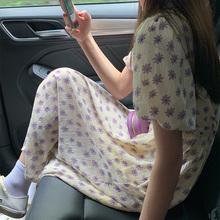 吱呤碎qd连衣裙清新jl质紫色仙气可爱甜美裙子2020年新式夏天