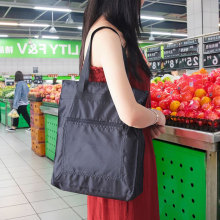 防水手qf袋帆布袋定ikgo 大容量袋子折叠便携买菜包环保购物袋
