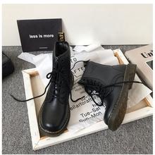 (小)suqg家英伦风系kq短靴骑士chic马丁靴女鞋2021新式靴子潮ins