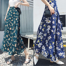 女夏2qh20新式雪kj式中长式碎花海边度假沙滩裹裙半身裙子