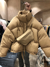 特价Mqidressn8大门代购2019冬季女立领拉链纯色羽绒服面包服