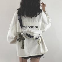 202qi新式包包网yes日系原宿工装胸包女韩款学生帆布斜挎腰包潮