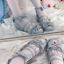 【现货qi月满大的【ca】低跟 原创Lolita女鞋甜系lo鞋兔兔