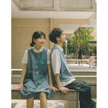 锅的猫qi不一样(小)众ao心情侣装你衣我裙(小)清新设计感连衣裙夏