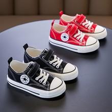 宝宝帆布鞋男童女童2021春夏新式qi14款板鞋ya鞋(小)白布鞋潮