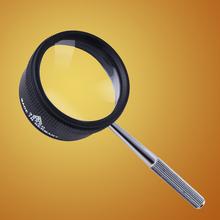 老的看qi用的放大镜iu倍 家用鉴别阅读35倍高清光学白玻璃手持