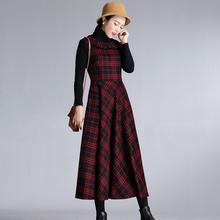 202qk秋冬新式复xf娃娃领修身连衣裙女气质打底裙