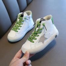 男童鞋qk童二棉鞋(小)nz季新式软底宝宝板鞋高帮加绒宝宝运动鞋