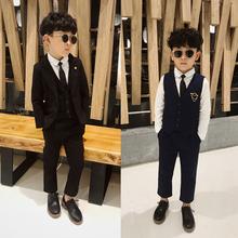 男童西装套装(小)ql服儿童活动18服花童帅气英伦2021秋冬新款