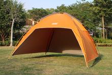 户外天ql帐篷围布遮do棚野外多的沙滩防雨篷晒紫外线钓鱼逸途
