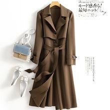 女中长ql英伦风大衣dq新式韩款大码气质洋气外套