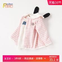 0一1ql3岁婴儿(小)lx童女宝宝春装外套韩款开衫幼儿春秋洋气衣服