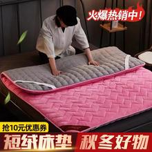 加绒夹棉加厚床垫软垫法兰绒单qm11防滑床bo用冬天保暖垫被