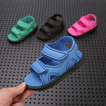 潮牌女qm宝宝202ld塑料防水魔术贴时尚软底宝宝沙滩鞋