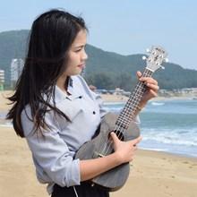 尤克里qm成的初学者ww木质男女学生尤里克克乌克丽丽21寸(小)吉他