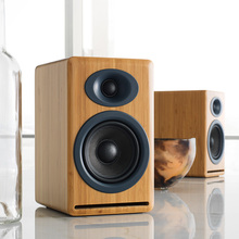 Audqnoenginn擎P4书架式Hi-Fi立体声2.0声道被动无源音箱