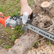 家用伐qp锯电链锯(小)tc能木工迷你角磨机改装支架链条锯
