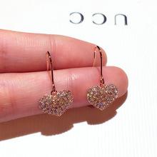时尚韩国耳环超闪精致爱心镶水qq11202ba心形气质耳钉耳坠女