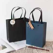 圣诞节qq品袋手提袋ba清新生日伴手礼物包装盒简约纸袋礼品盒