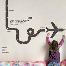 飞机跑qq个性励志背ba黑板报装饰墙贴幼儿园礼物汽车自粘贴纸