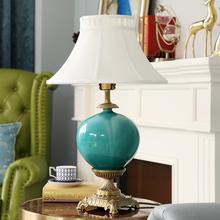 新中式qq厅美式卧室ba欧式全铜奢华复古高档装饰摆件