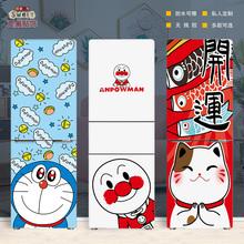 招财猫qq做纸装饰贴ba防水自粘创意翻新贴个性卡通可爱