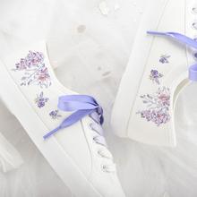 HNOqq(小)白鞋女百mj21新式帆布鞋女学生原宿风日系文艺夏季布鞋子