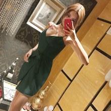 201qq夏装新式名mj性感女装气质收腰吊带裙宽松显瘦连衣裙短裙
