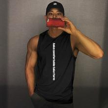 肌肉博qq无袖背心男lp动宽松短袖T恤潮牌ins健身衣服篮球训练