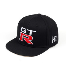 外贸爆qr日产GTRss运动机车棒球帽GTR平檐嘻哈帽