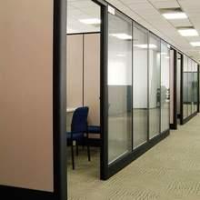 昆明办qr高隔断 钢hv百叶玻璃高隔断 办公室隔间屏风