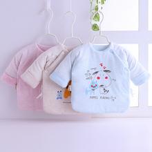 新生儿qs暖加厚棉衣cj季初生婴儿和尚服半背衣0-3月纯棉上衣