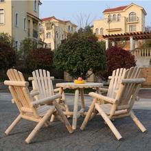 户外阳qs露台防腐木cj椅美式复古田园咖啡酒吧创意室外花园带