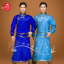 蒙古袍男生活装蒙古袍男日常qs10男男士cj蒙古服装演出蒙族